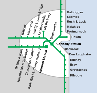 DART and Commuter Rail Services Map